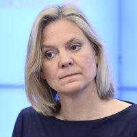 Fiansminister Magdalena Andersson (S)